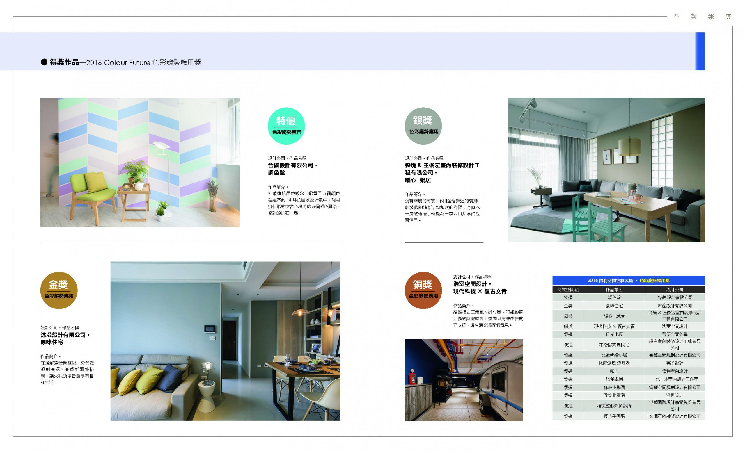 色彩趨勢應用特優:合砌設計《調色盤》